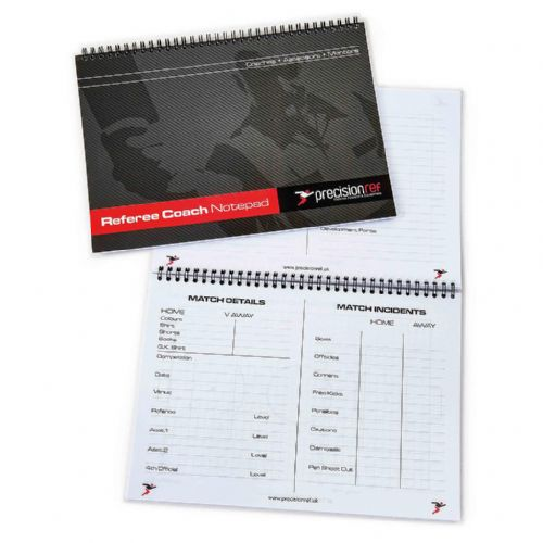 Precision A5 Football Referee Assessors Notebook (Pack 6)